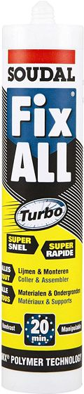 FIX-ALL TURBO SOUDAL CART.290ML BLANC