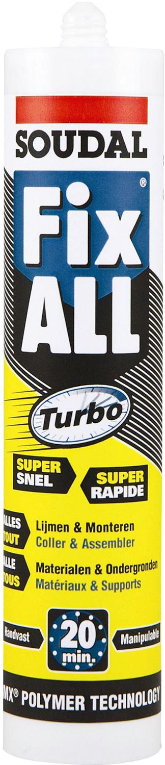 FIX-ALL TURBO SOUDAL KART. 290ML WIT