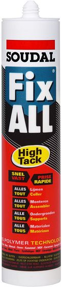 FIX-ALL HIGH TACK SOUDAL 290ML BLANC