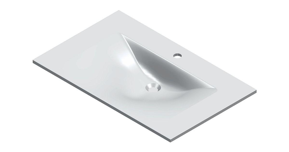 Nieuwe Badkamer Berekenen ~ lavabo bizzy 80x50cm kunstmarmer wit  desco be