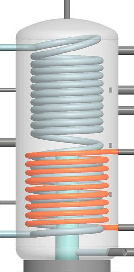 ZONNEBOIL.AQUA-HYGIENA 500L +INOX SPIR.