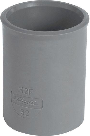 MANCHON PVC NICOLL 80MM GRIS
