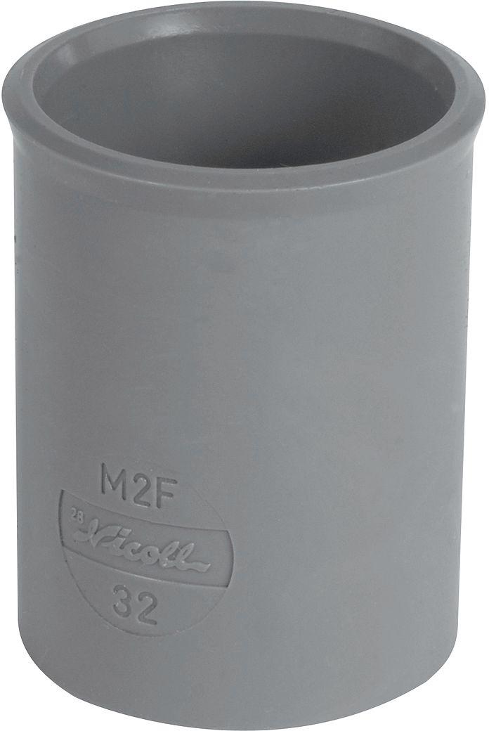 PVC MOF KW NICOLL 80MM GRIJS