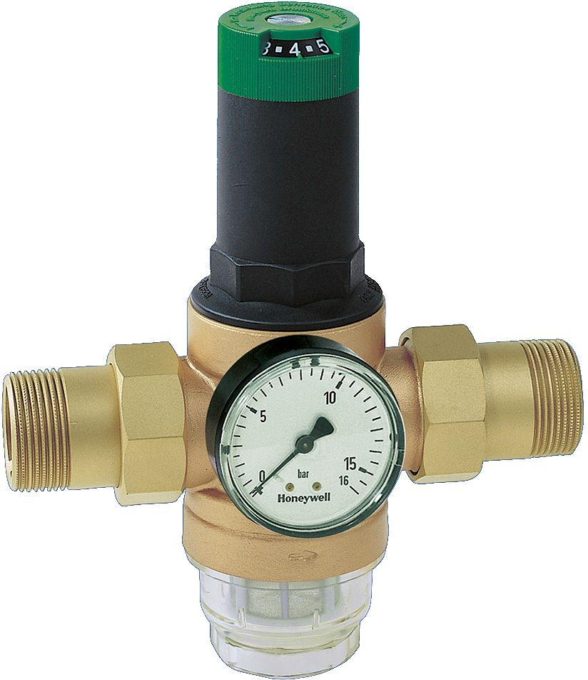 "WATERDRUKREGELAAR+MANOMETER HONEYW.1/2""M"