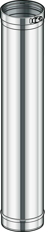 INOX ENKELW BUIS CONDENSOR POUJ.200 95CM