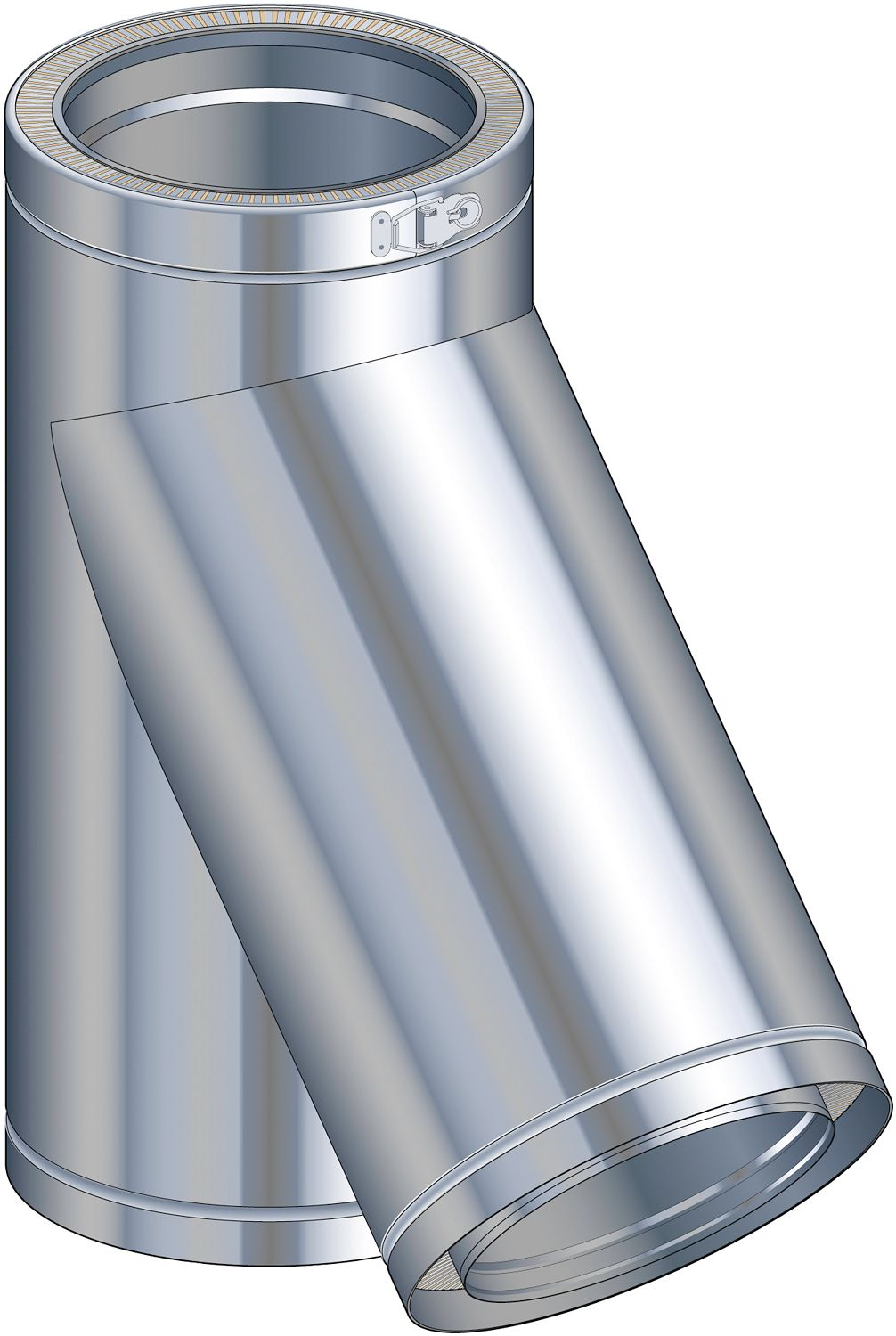 THERM-INOX T 135° POUJOULAT  80MM
