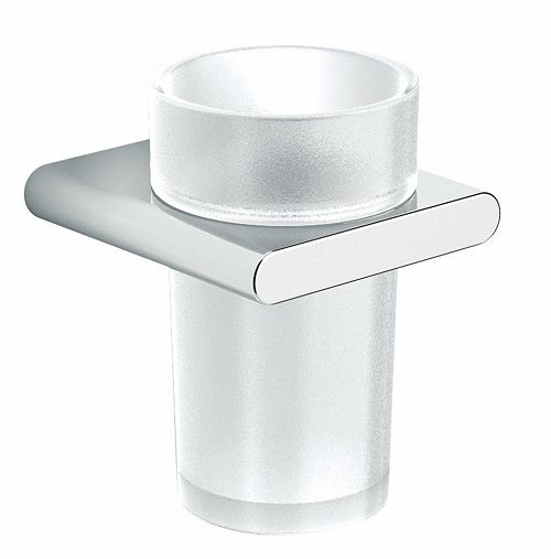 GLAS+HOUDER HOLD S CHROOM/MAT GLAS