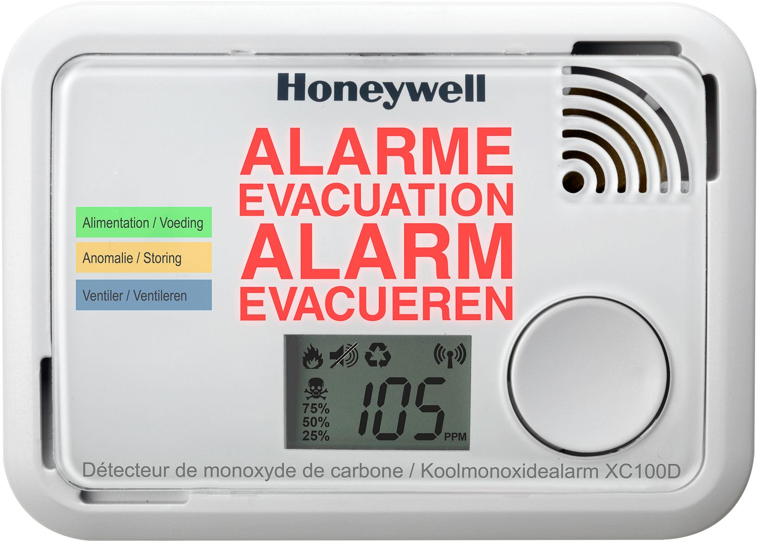 ALARME DE CO XC100 HONEYWELL