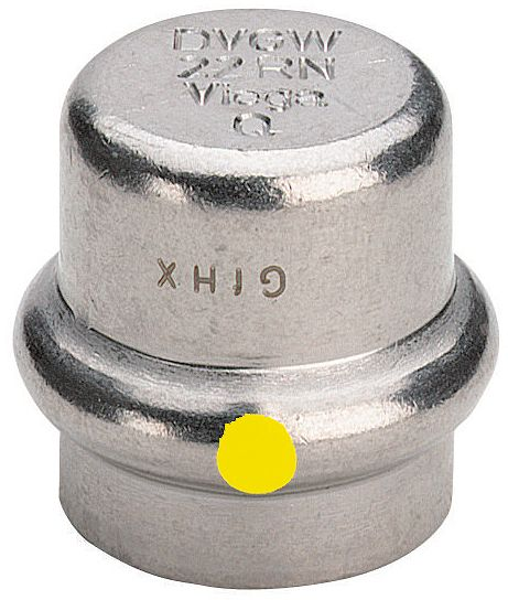 STOP 22MM SANPRESS INOX GAS VIEGA
