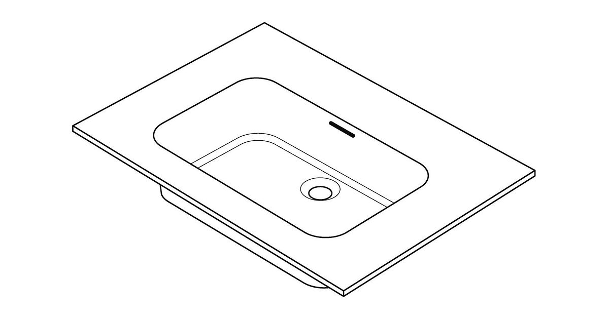 Tablet combo molto 90x50cm solid wit for Badkamermeubel desco