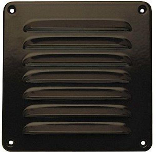 grille d 39 aeration alu brune b16 h16cm. Black Bedroom Furniture Sets. Home Design Ideas